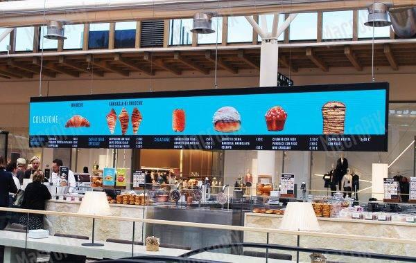 banner a led negozio Cioccolati Italiani