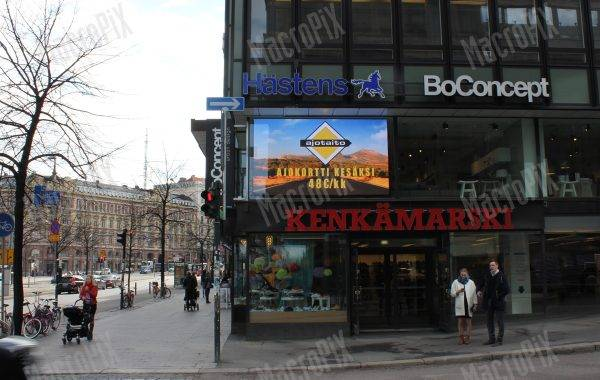 led display for shop window helsinki