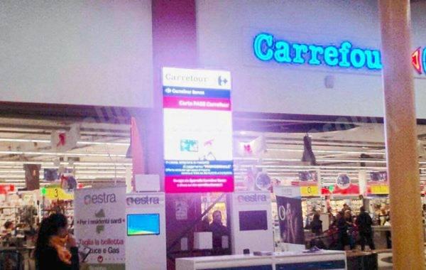 schermi a led centro commerciale
