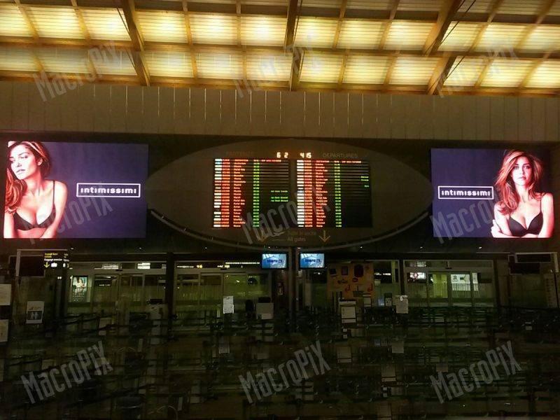 schermi a led aeroporto venezia