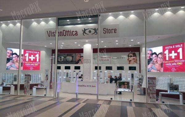 maxi schermi negozio ottica
