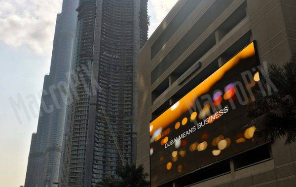 mesh led screen outdoor dubai