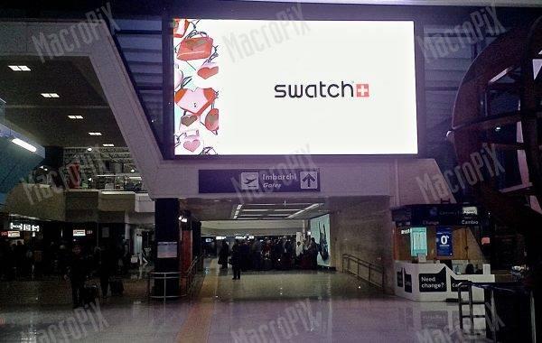schermo a led aeroporto Fiumicino