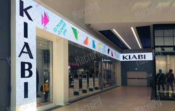 led display kiabi | centro commerciale Mondo Juve