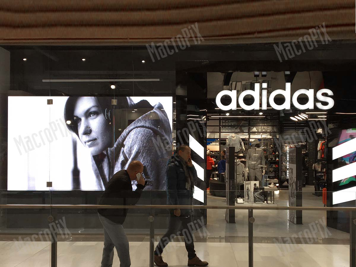 LED display sport shop window Bratislava  1d570405c85