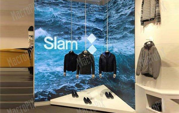 Schermo a led slam store Roma | Macropix