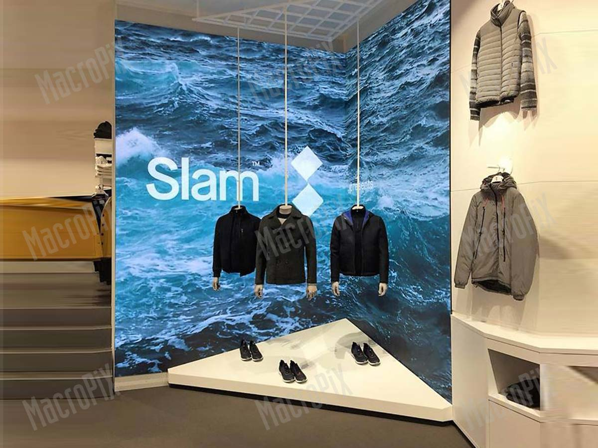 Schermo a led slam store Roma   Macropix