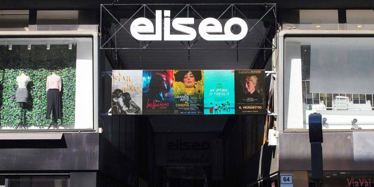 Schermo a led installato al Cinema Eliseo | Macropix