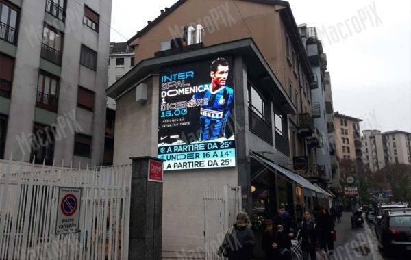 Schermo a led da esterno zona Marghera Milano