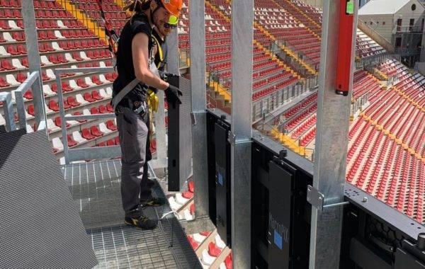 installazione maxischermo a led