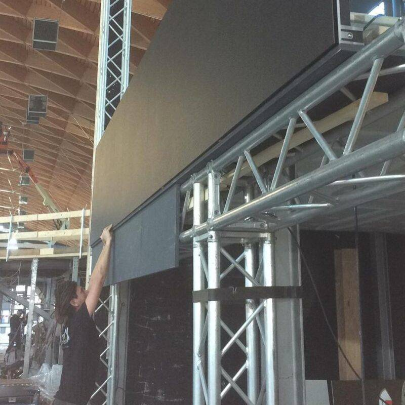 montaggio ledwall indoor