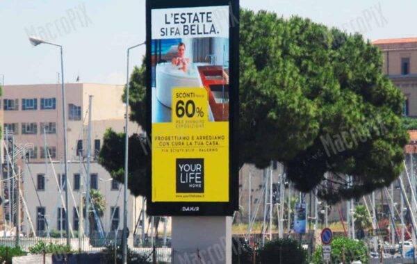 ledwall pubblicitario su strada