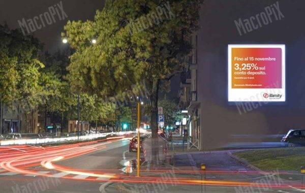 ledwall per pubblicità esterna su strada